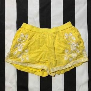 J. Crew yellow shorts